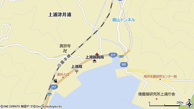 大分県佐伯市上浦大字津井浦1416周辺の地図