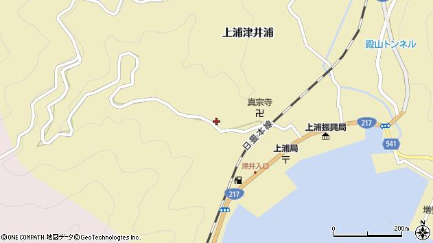 大分県佐伯市上浦大字津井浦2078周辺の地図