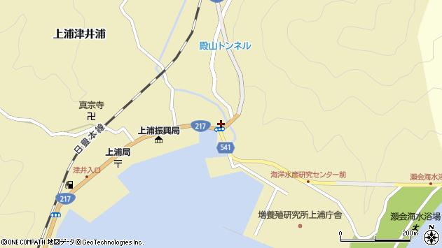 大分県佐伯市上浦大字津井浦1369周辺の地図