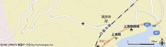 大分県佐伯市上浦大字津井浦150周辺の地図