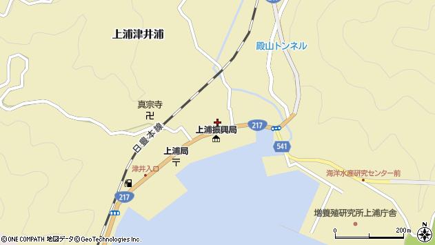大分県佐伯市上浦大字津井浦1422周辺の地図