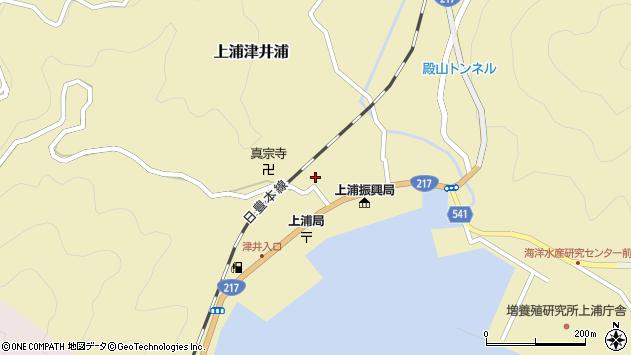 大分県佐伯市上浦大字津井浦1325周辺の地図