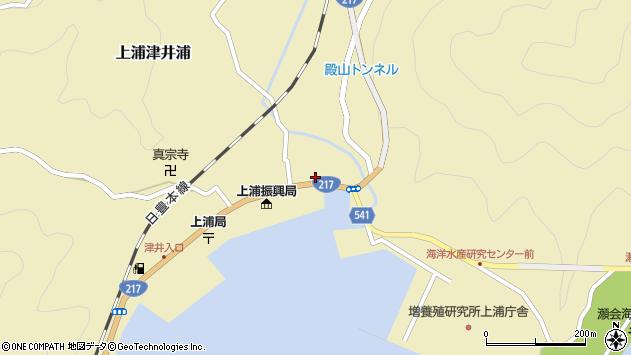 大分県佐伯市上浦大字津井浦1393周辺の地図