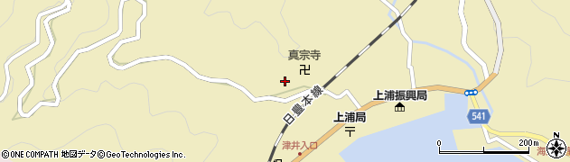 大分県佐伯市上浦大字津井浦1996周辺の地図