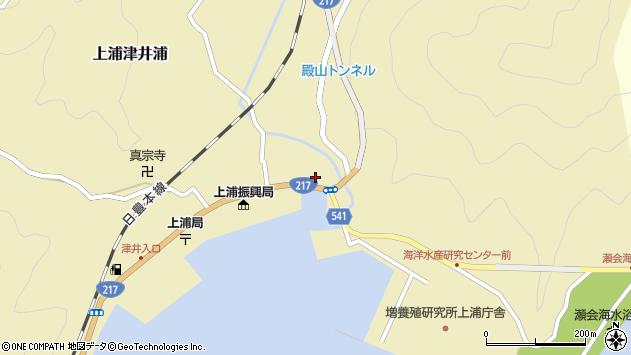大分県佐伯市上浦大字津井浦1378周辺の地図