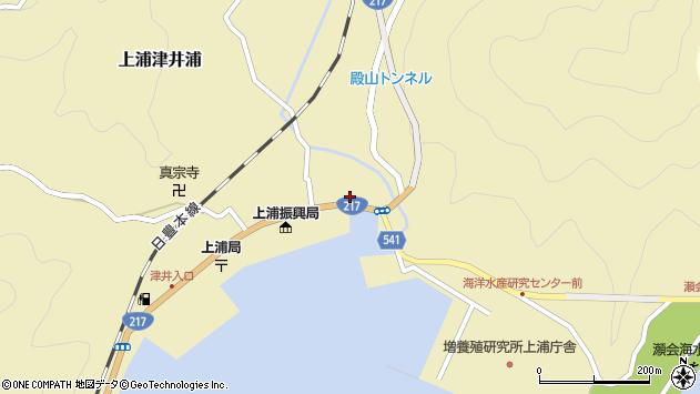 大分県佐伯市上浦大字津井浦1388周辺の地図