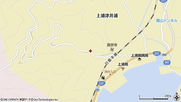 大分県佐伯市上浦大字津井浦1987周辺の地図