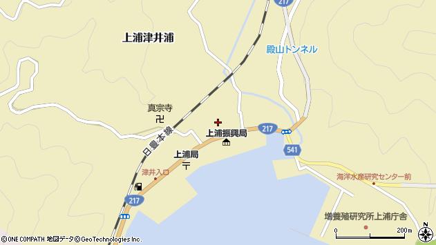大分県佐伯市上浦大字津井浦1428周辺の地図