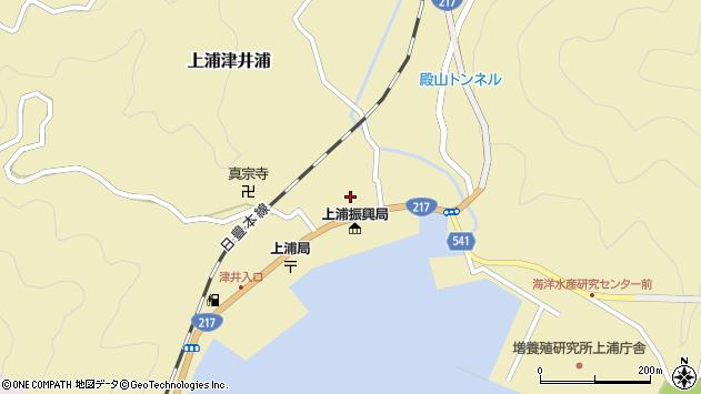 大分県佐伯市上浦大字津井浦1424周辺の地図