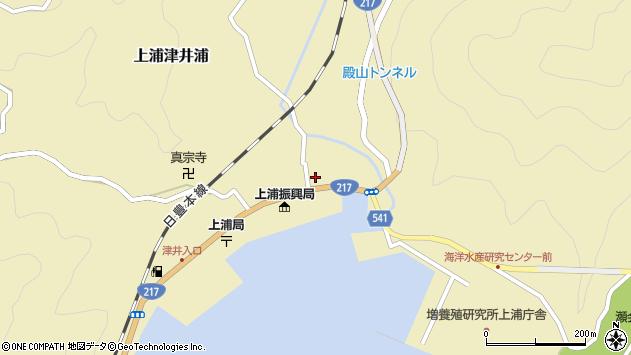 大分県佐伯市上浦大字津井浦1403周辺の地図