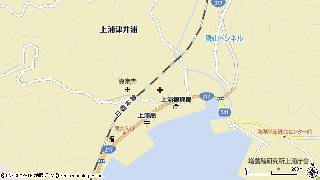 大分県佐伯市上浦大字津井浦1443周辺の地図