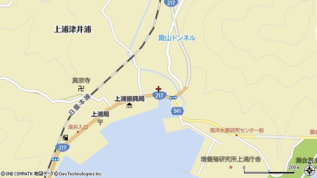 大分県佐伯市上浦大字津井浦1区周辺の地図