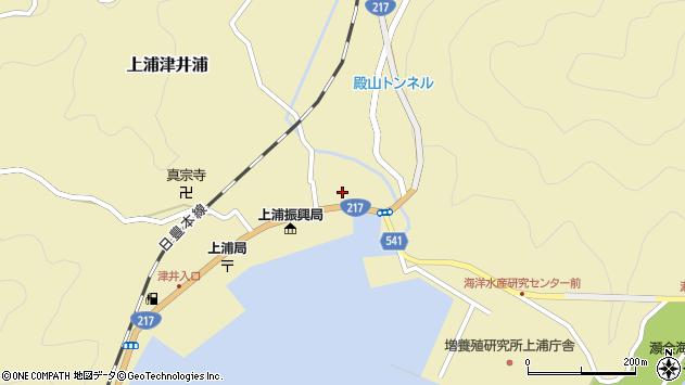 大分県佐伯市上浦大字津井浦1394周辺の地図