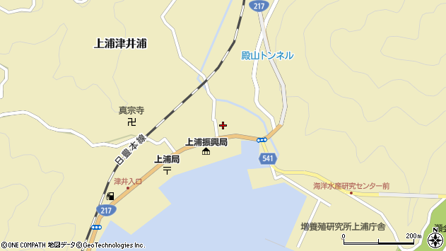大分県佐伯市上浦大字津井浦1402周辺の地図