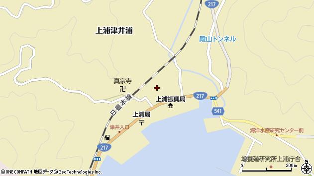 大分県佐伯市上浦大字津井浦1436周辺の地図