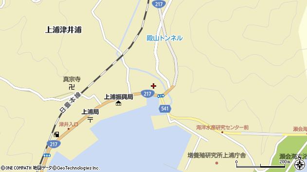 大分県佐伯市上浦大字津井浦1379周辺の地図