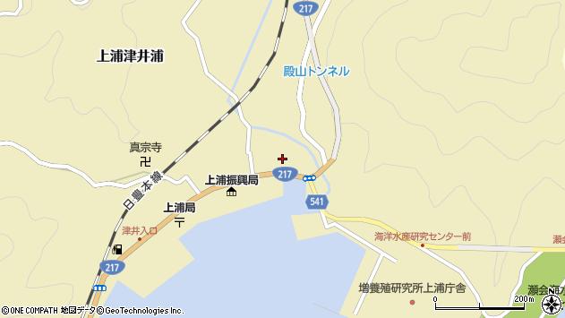 大分県佐伯市上浦大字津井浦1384周辺の地図