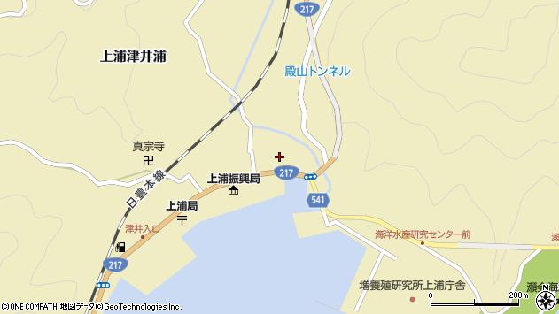 大分県佐伯市上浦大字津井浦1386周辺の地図