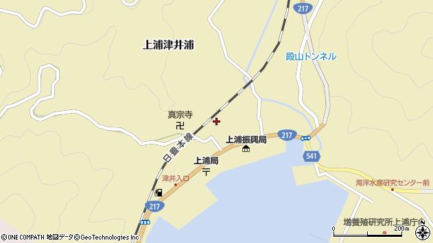 大分県佐伯市上浦大字津井浦1328周辺の地図
