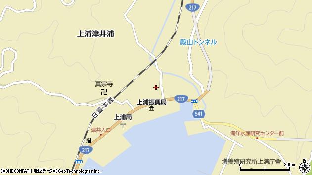 大分県佐伯市上浦大字津井浦1412周辺の地図