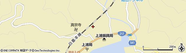 大分県佐伯市上浦大字津井浦1334周辺の地図