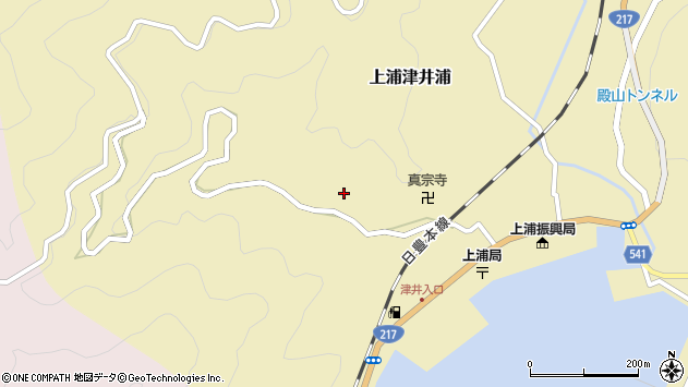 大分県佐伯市上浦大字津井浦1981周辺の地図