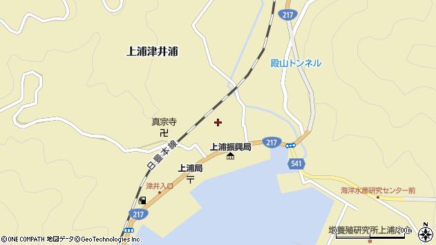 大分県佐伯市上浦大字津井浦1337周辺の地図