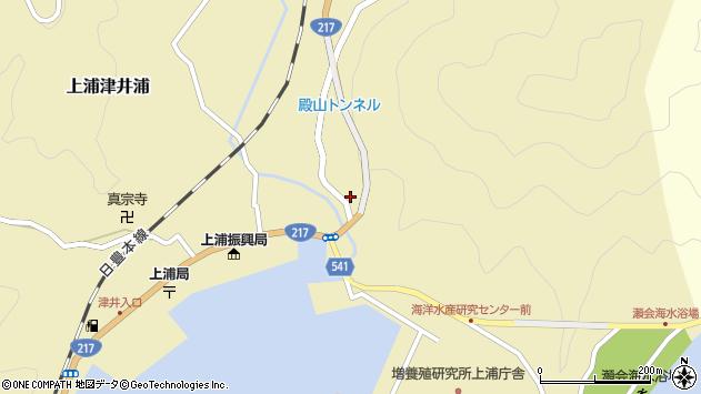 大分県佐伯市上浦大字津井浦262周辺の地図