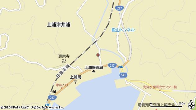 大分県佐伯市上浦大字津井浦1346周辺の地図