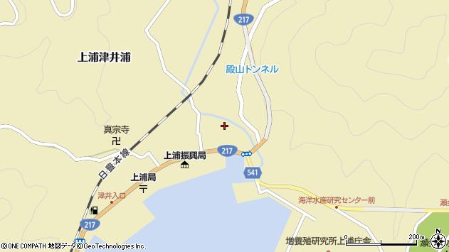 大分県佐伯市上浦大字津井浦1357周辺の地図