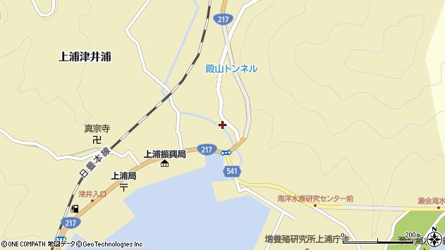 大分県佐伯市上浦大字津井浦274周辺の地図