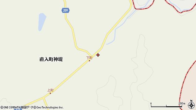 大分県竹田市直入町大字神堤79周辺の地図
