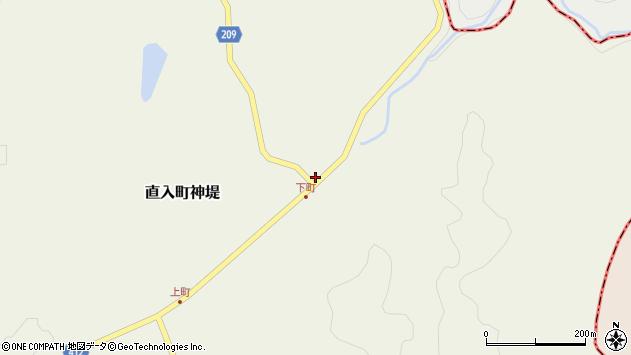 大分県竹田市直入町大字神堤999周辺の地図