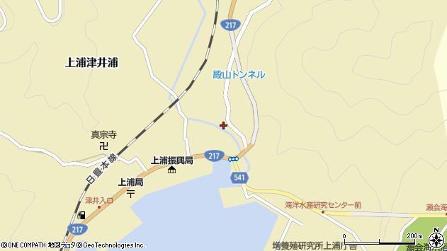 大分県佐伯市上浦大字津井浦275周辺の地図