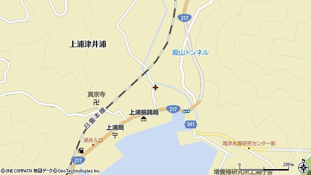 大分県佐伯市上浦大字津井浦1356周辺の地図