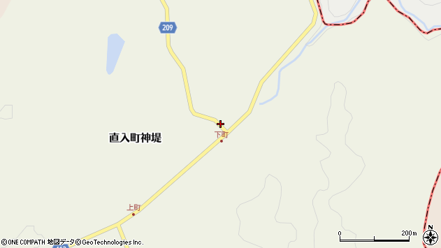 大分県竹田市直入町大字神堤998周辺の地図