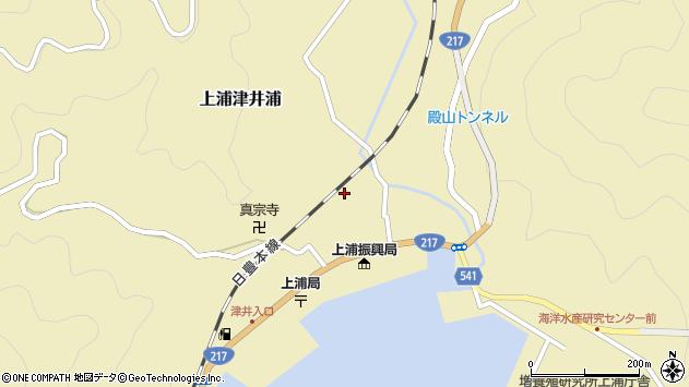 大分県佐伯市上浦大字津井浦1249周辺の地図