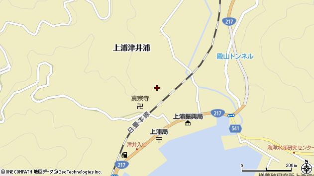 大分県佐伯市上浦大字津井浦1308周辺の地図