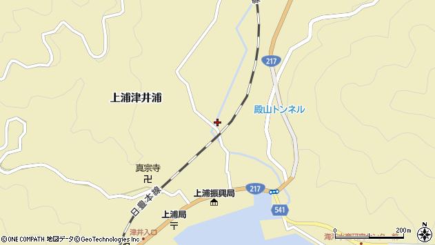 大分県佐伯市上浦大字津井浦350周辺の地図