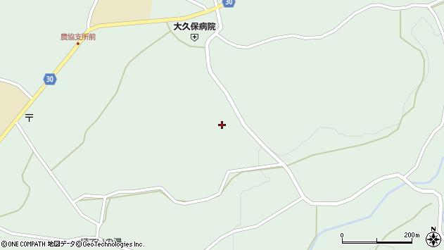 大分県竹田市久住町大字栢木5834周辺の地図
