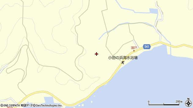 大分県佐伯市上浦大字最勝海浦1590周辺の地図