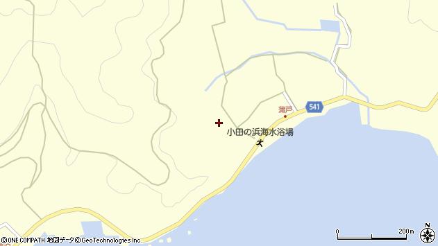 大分県佐伯市上浦大字最勝海浦1555周辺の地図