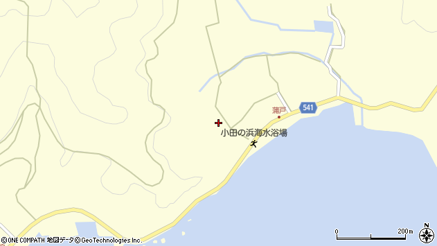 大分県佐伯市上浦大字最勝海浦1547周辺の地図