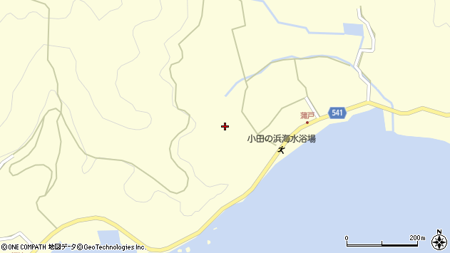 大分県佐伯市上浦大字最勝海浦1527周辺の地図