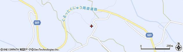 大分県竹田市久住町大字有氏1609周辺の地図