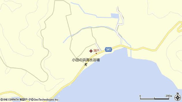 大分県佐伯市上浦大字最勝海浦1608周辺の地図