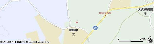 大分県竹田市久住町大字栢木千人塚周辺の地図