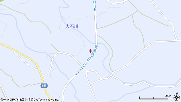 大分県竹田市久住町大字有氏1303周辺の地図