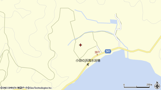 大分県佐伯市上浦大字最勝海浦1486周辺の地図