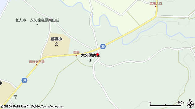 大分県竹田市久住町大字栢木6131周辺の地図